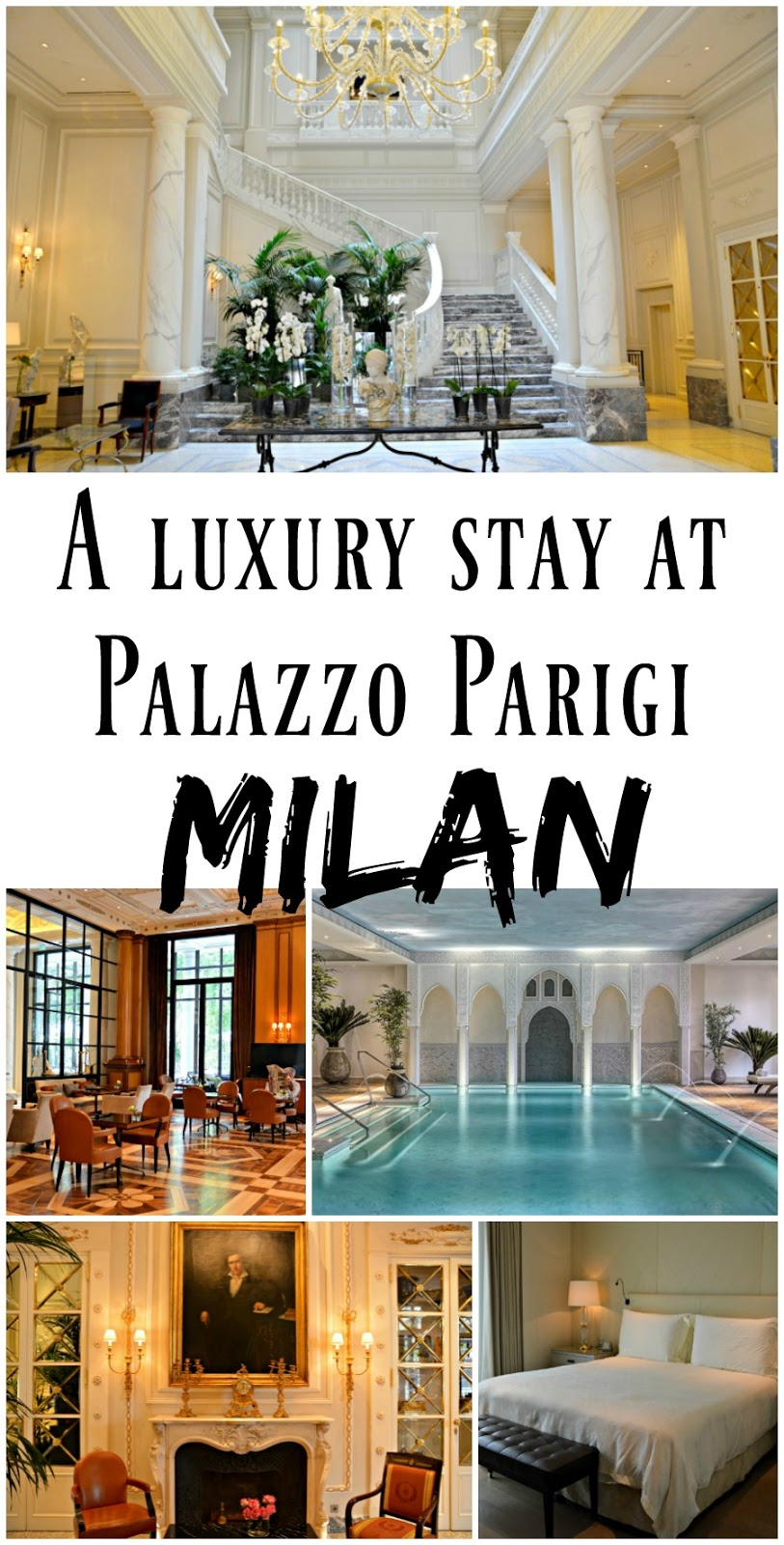 Things to do in Milano, Italy: Stay at Palazzo Parigi Grand Hotel & Spa, one of the finest luxury hotels in the city! With a grand marble lobby, incredible spa, and beautiful Milanese rooms, it is the perfect hotel for a stay in Milan. It's also located right in the heart of the fashion district and really close to all of the major attractions!