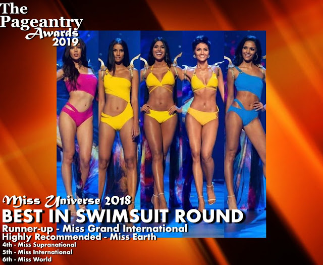 Pageantry Awards 2019 Miss Universe wins Best in Swimsuit Round