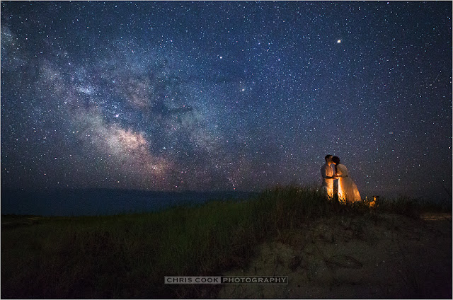 Cape Cod wedding blog photo from Chris Cook Photography about Starlit e-session