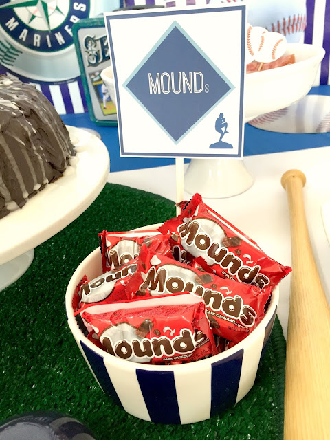 Baseball Party foods- Mounds bars