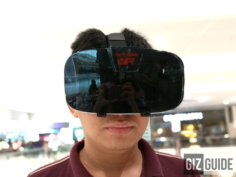 Wearing style of Cherry Mobile VR