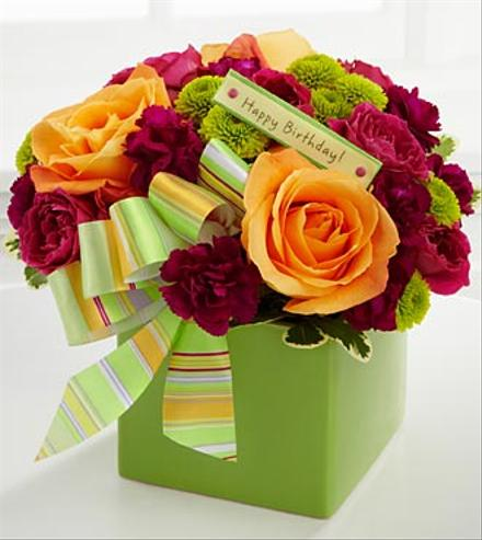 Orange Roses Birthday Bouquet