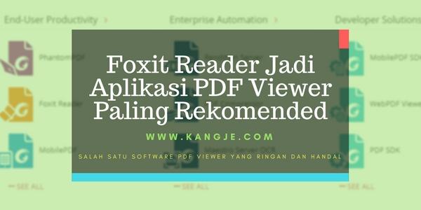 Aplikasi Foxit Reader Pdf