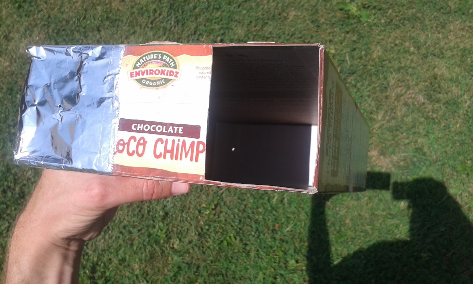 how to watch solar eclipse cereal box