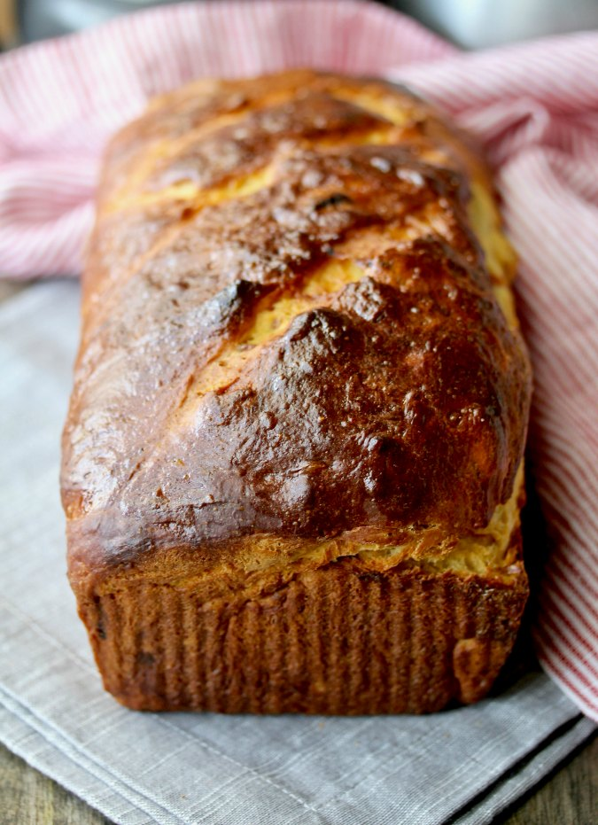 Apricot Sour Cream Bread with orange juice