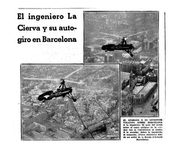 Juan de la Cierva a la Plaça Catalunya