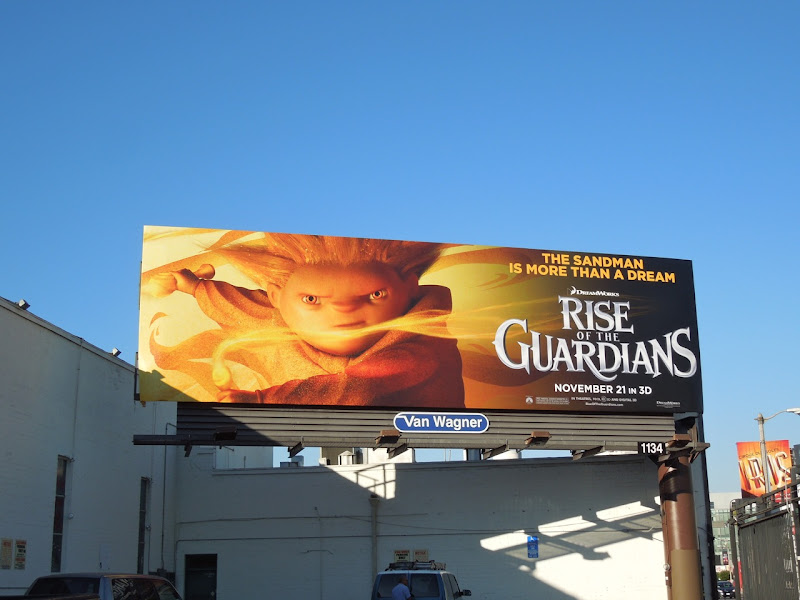 Sandman Rise of the Guardians billboard