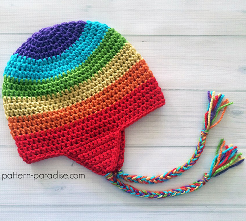 Easy Earflap Hat - Free Crochet Pattern