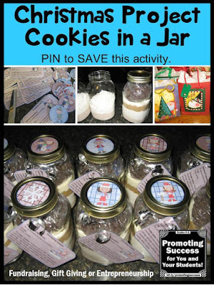 Christmas gift ideas winter project gifts in a jar cookies
