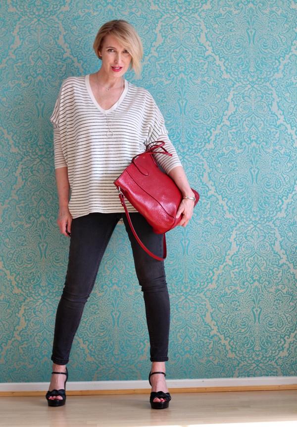 Oversize Pullover zur Skinny-Jeans