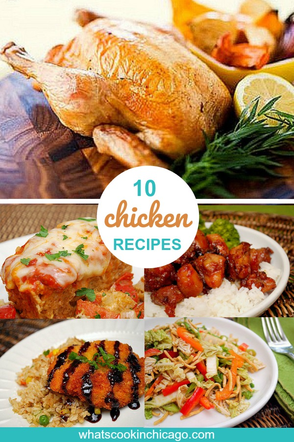 10 chicken recipes pinterest image