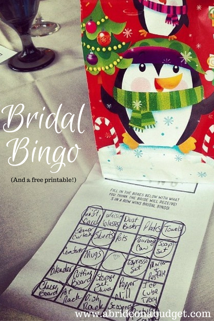 bridal bingo is such a fun bridal shower game get a bridal bingo board for