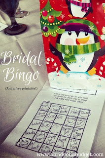 Looking for a fun bridal shower game? Get this Bridal Bingo free printable at www.abrideonabudget.com.