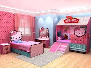 Gambar Kamar Hello Kitty Warna Pink 1