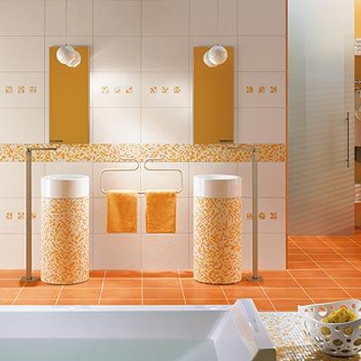 strobel fliesen sch ne b der aus mosaik mit warme farben. Black Bedroom Furniture Sets. Home Design Ideas