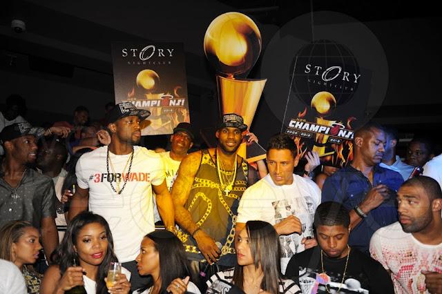 Miami Heat celebrate NBA Championship at Club Story