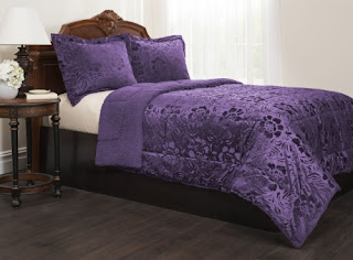 Purple bedroom ideas: Sherpa comforter set