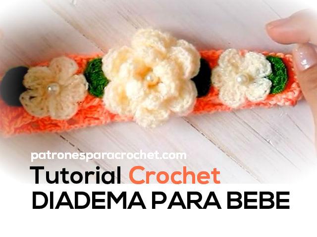 Diadema tejida para bebe tutorial patrones para crochet for Diademas para bebes de ganchillo