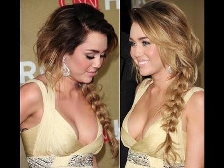 Miley Cyrus Side Braid Tutorial