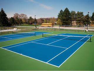 Thi Công sân tennis thảm lắp ráp của Limonta