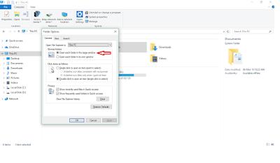 Open Each Folder in the Same Window