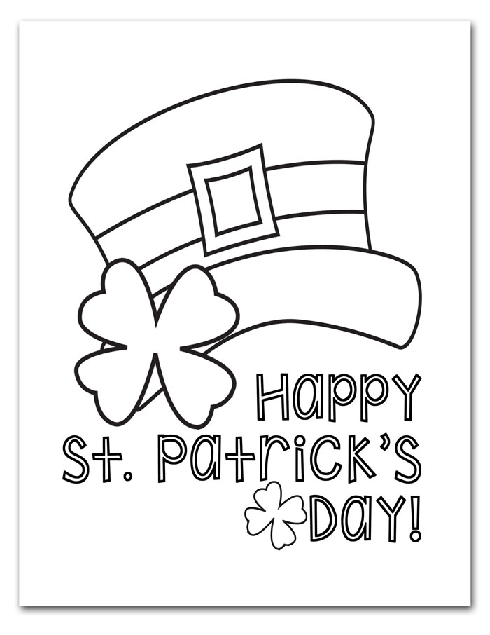 Free Printable St Patrick S Day Coloring Pages I Should Be Mopping The Floor