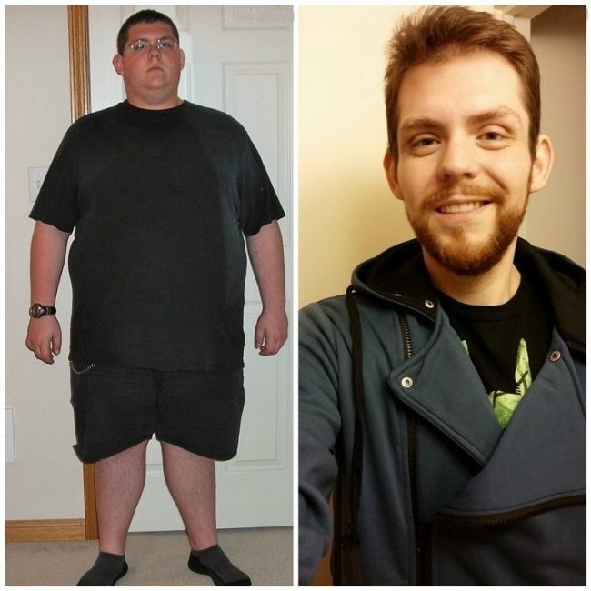 #2. Gaining weight can totally affect the way that you look. - 23 Inspirational Before/After Photos Of People Who Can Say 'I Did It.'