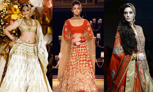 Top Indian Bridal Looks in lehenga saree images