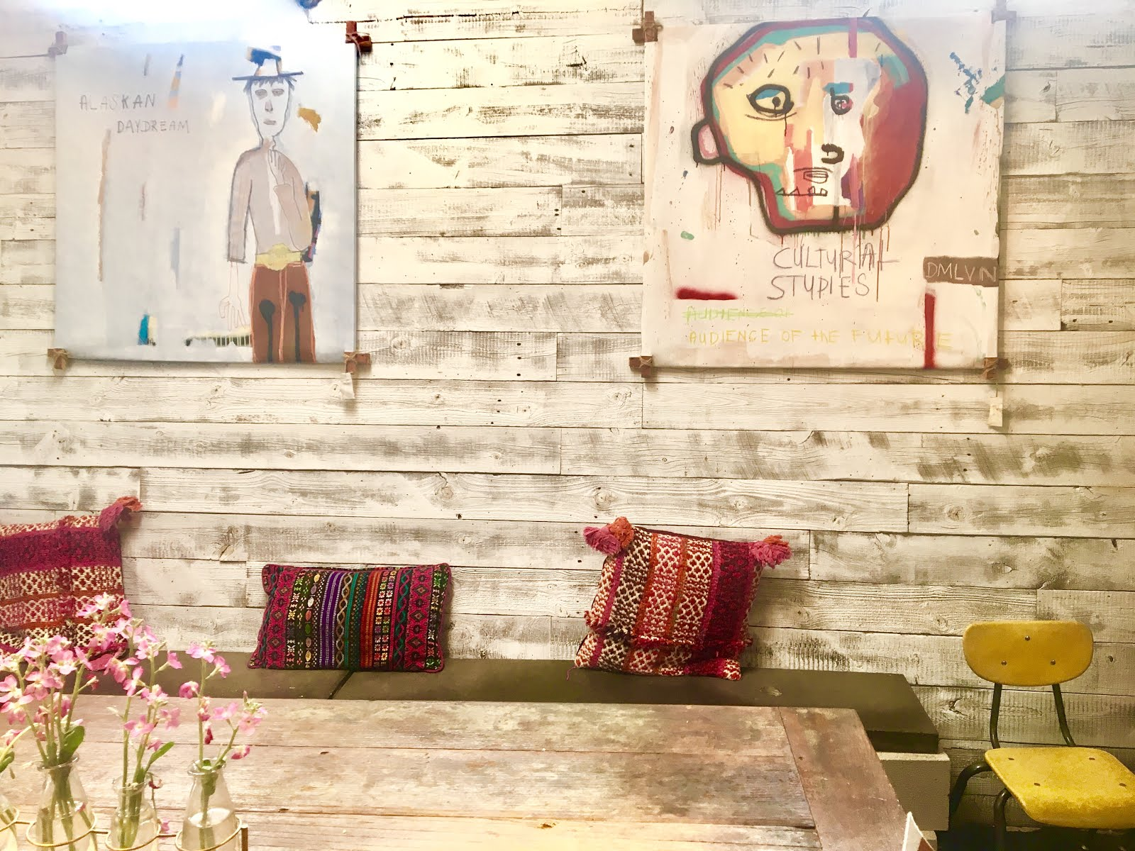 Bondi Harvest Decor - interior - Shiplap and handsewn pillows