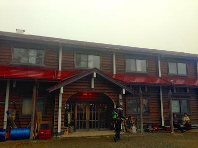 午後四時過ぎ、雲取山荘到着