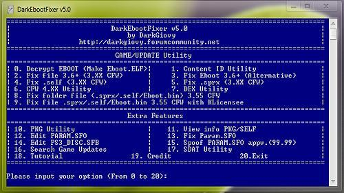 PS3 DarkEBOOT Fixer v5 0 Released: Fix EBOOT bin for CFW