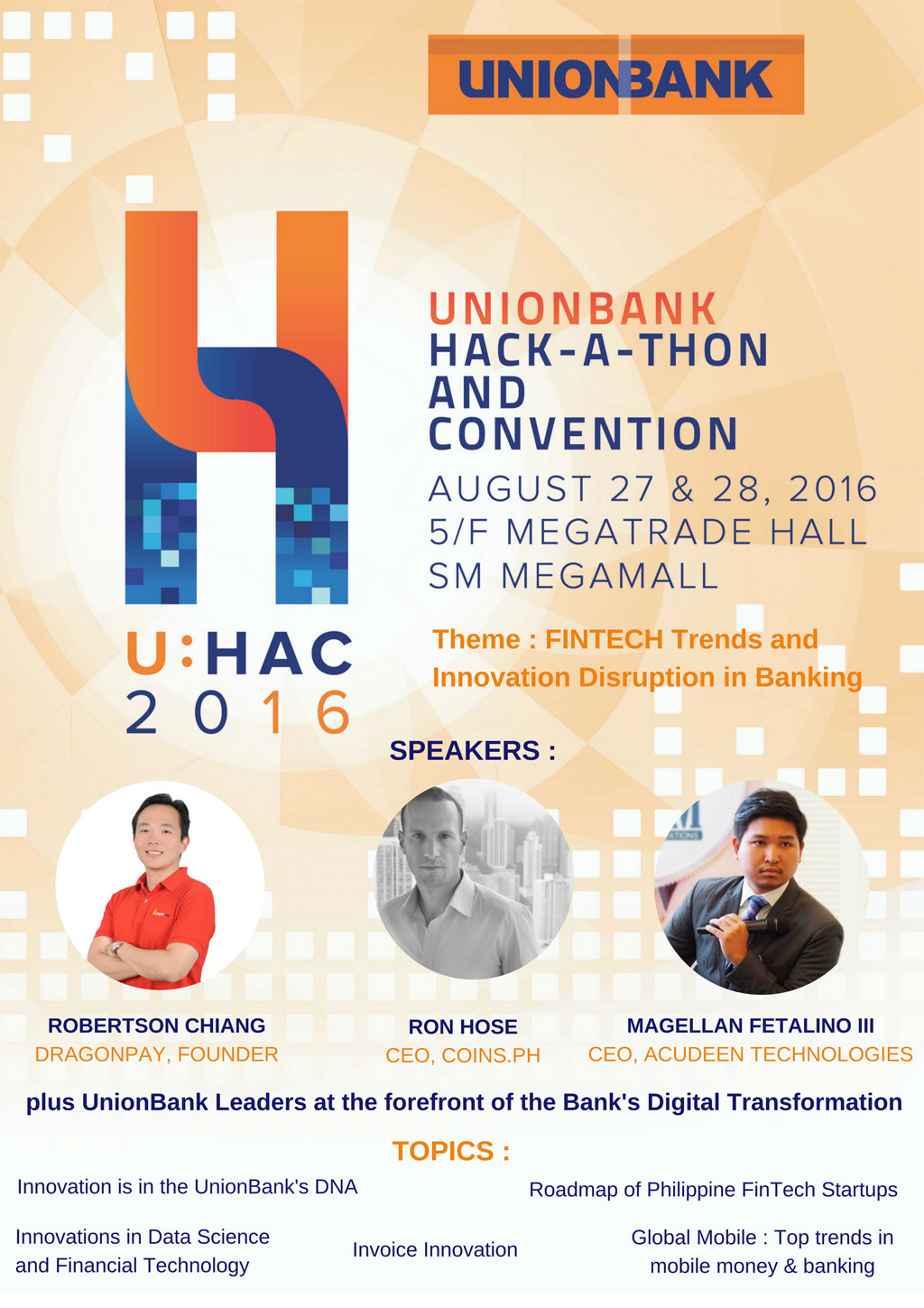 Unionbanks Hackathon and Convention - UHAC