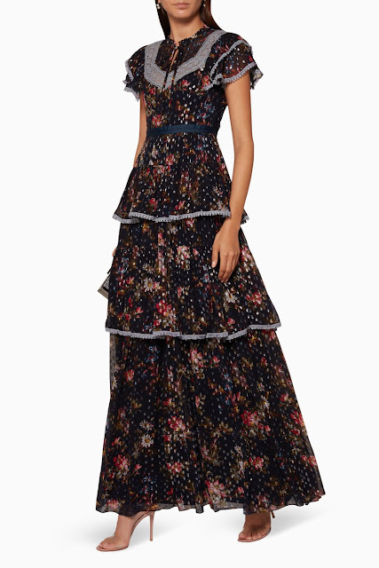 Navy Winter Forest Gown 1700 AED