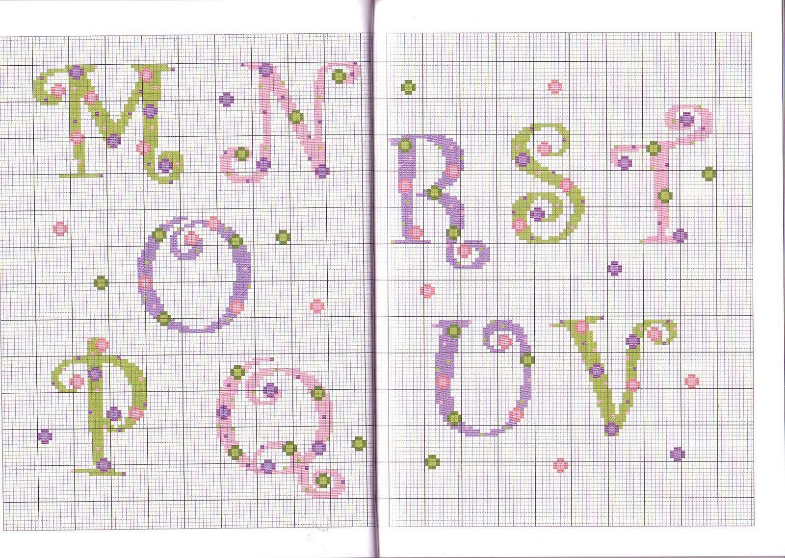 cross stitch baby alfabeti a punto croce per bambini