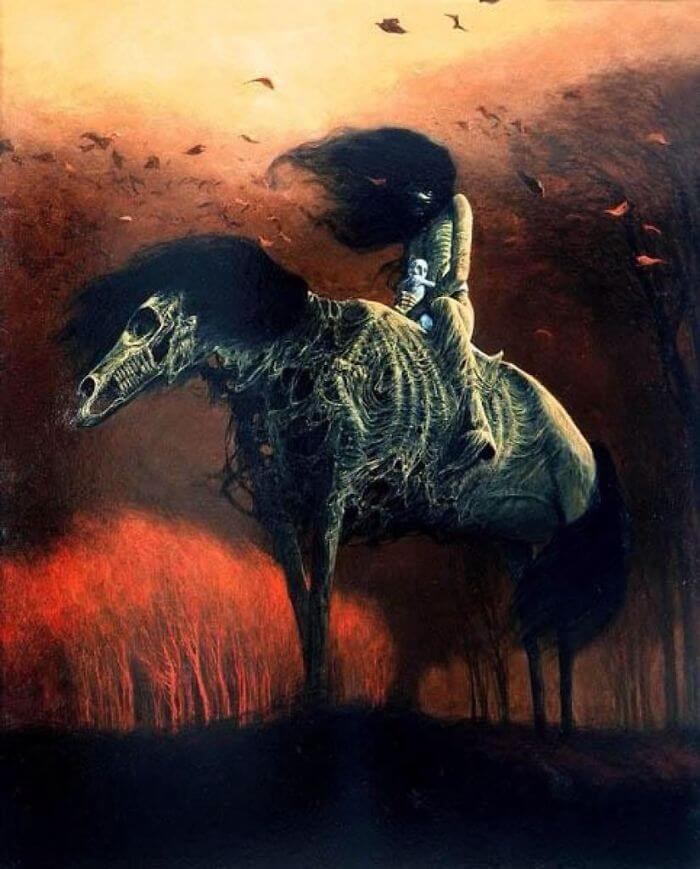 nightmarish but incredibly beautiful paintings by the