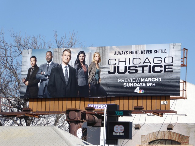 Chicago Justice series premiere billboard