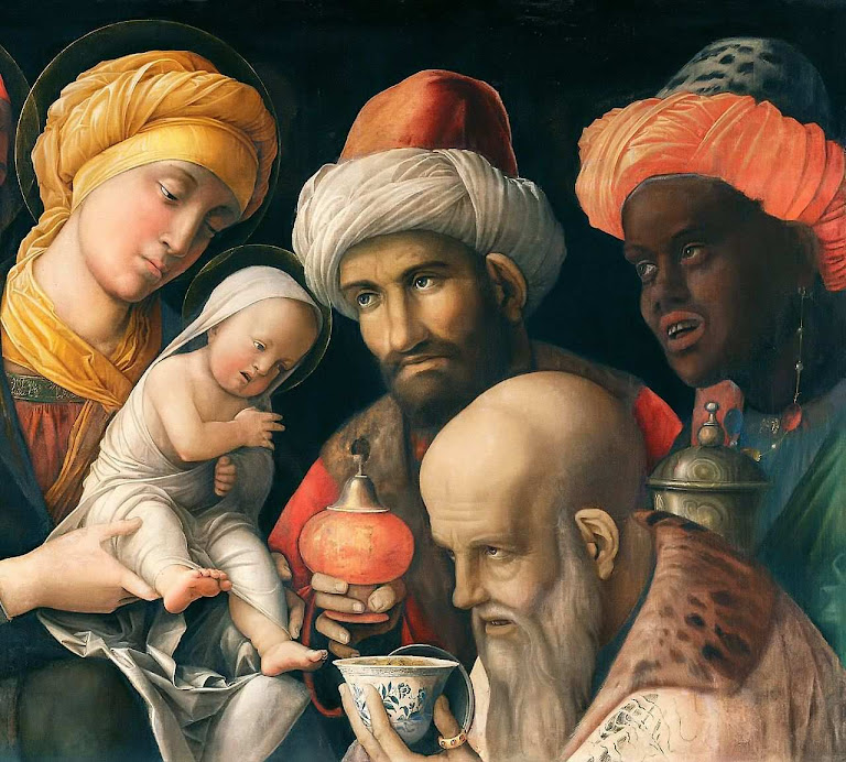 Reis Magos. Representam todas as raças. Andrea Mantegna (1431-1506). J. Paul Getty Museum, Los Angeles.