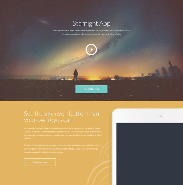 Starnight – PSD Website Template