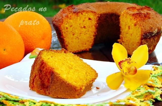 Receita de bolo de laranja e cenoua