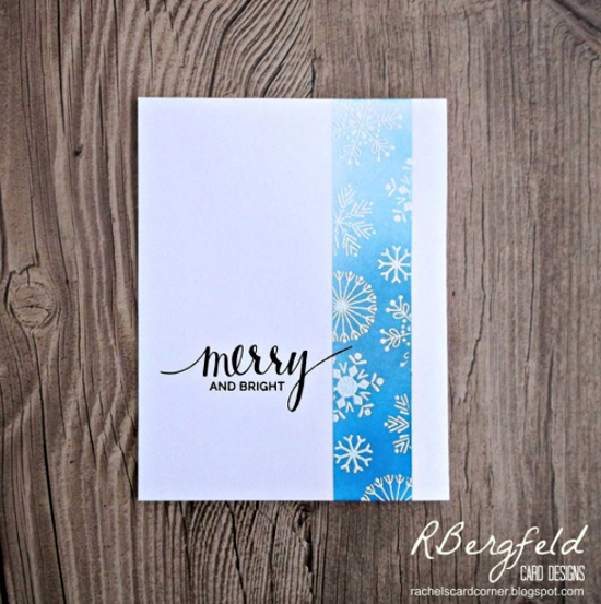 Hand Lettered Holiday and Snowflake Flurry stamp sets - Rachel Bergfeld #mftstamps