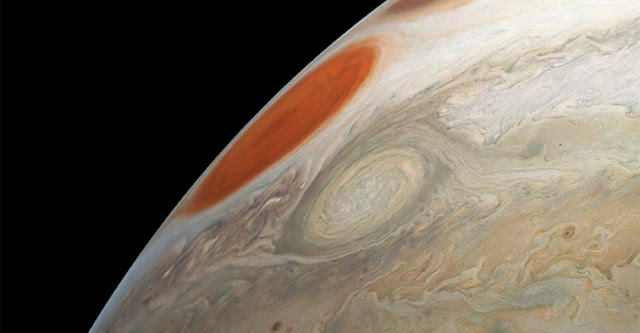 juno s latest flyby of jupiter captures two massive storms