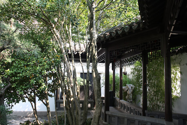Beautiful paths throughout the Lan Su Chinese Garden provide points to ponder.