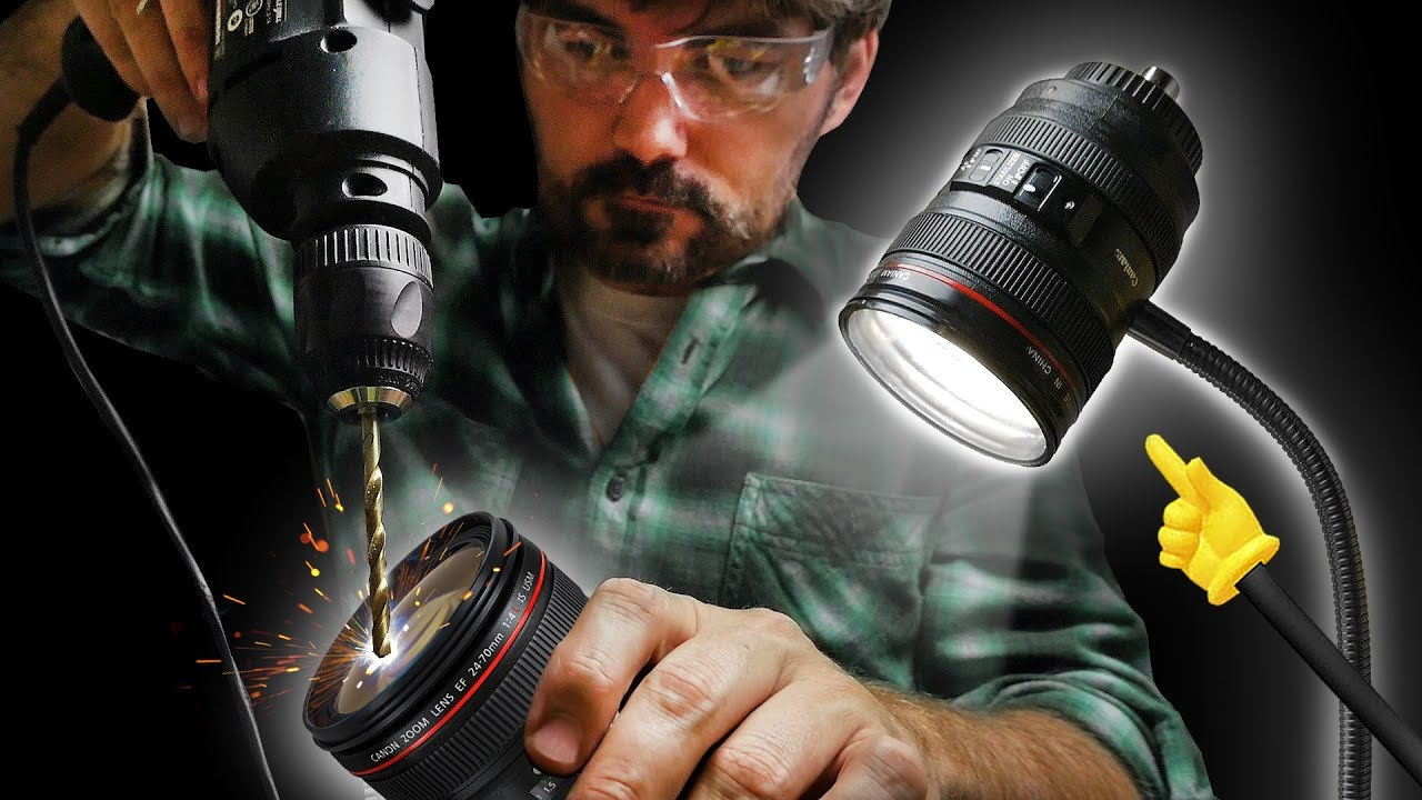 MAKE a CAMERA LENS Desk Light!