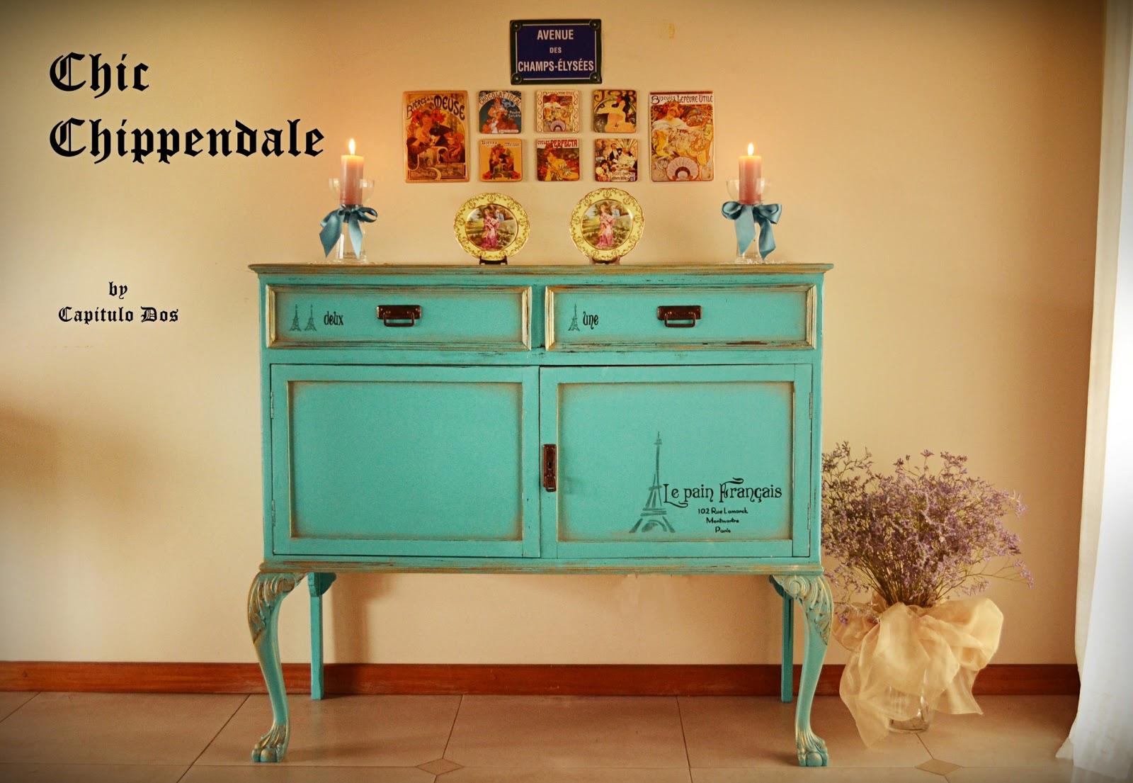 Restaurar Un Mueble Antiguo Pintar Muebles Con Pinturas  # Muebles Turquesa