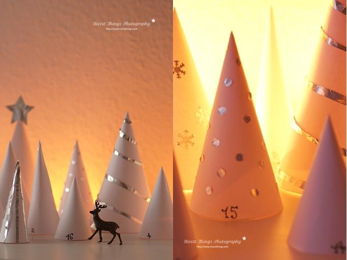 Winterwald Adventskalender DIY Wald Adventskalender Papiertüten