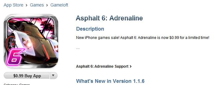 asphalt6-1-dolar É hoje! Asphalt 6 Adreline por 1 dólar