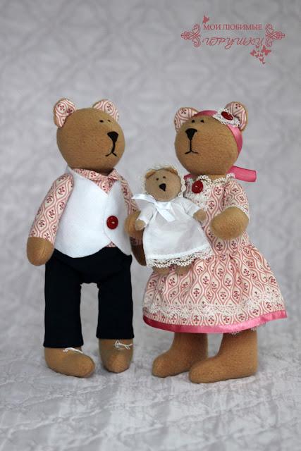 мишка, медведь, текстильная игрушка