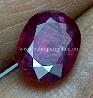 Batu Permata Ruby Pigeon Blood - ZP 591