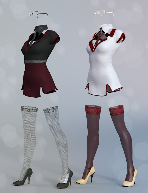 Sexy Secretary Outfit Textures