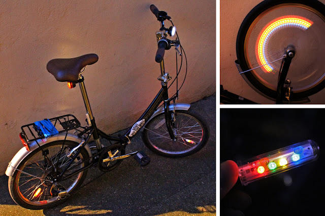 Wendy's Week - UFO's & Flashing Lights - Pimped my ride with Bike wheel lights